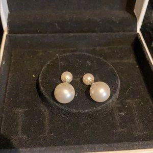 Pandora pearl studs. 2in1